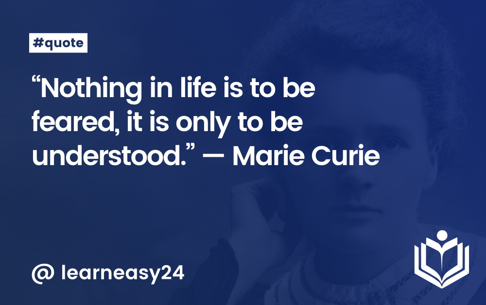 Quote — Marie Curie